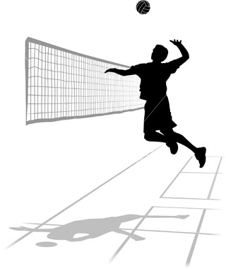 volleybal aanval